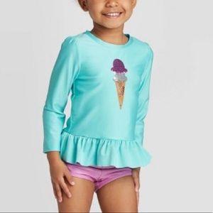 Ice cream long sleeve swimsuit